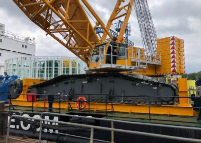 Crawler crane seafastening set