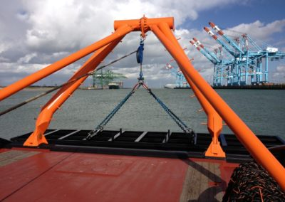 A-Frame with Dredging Plough 8,5 (up to 15) tons